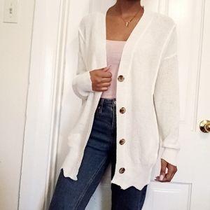 NORDSTROM   Wishlist white knit button cardigan 92